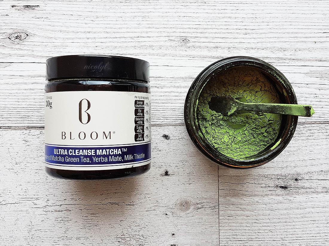 bloom ultra cleanse supercharge matcha green tea