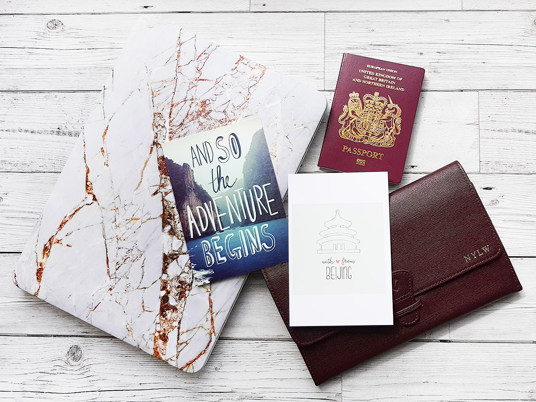 coconut lane marble rose gold MacBook paperchase aspinal of London travel wallet