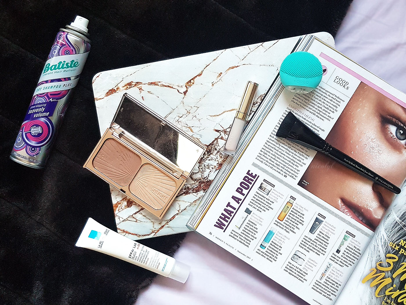 bad beauty habits flatlay