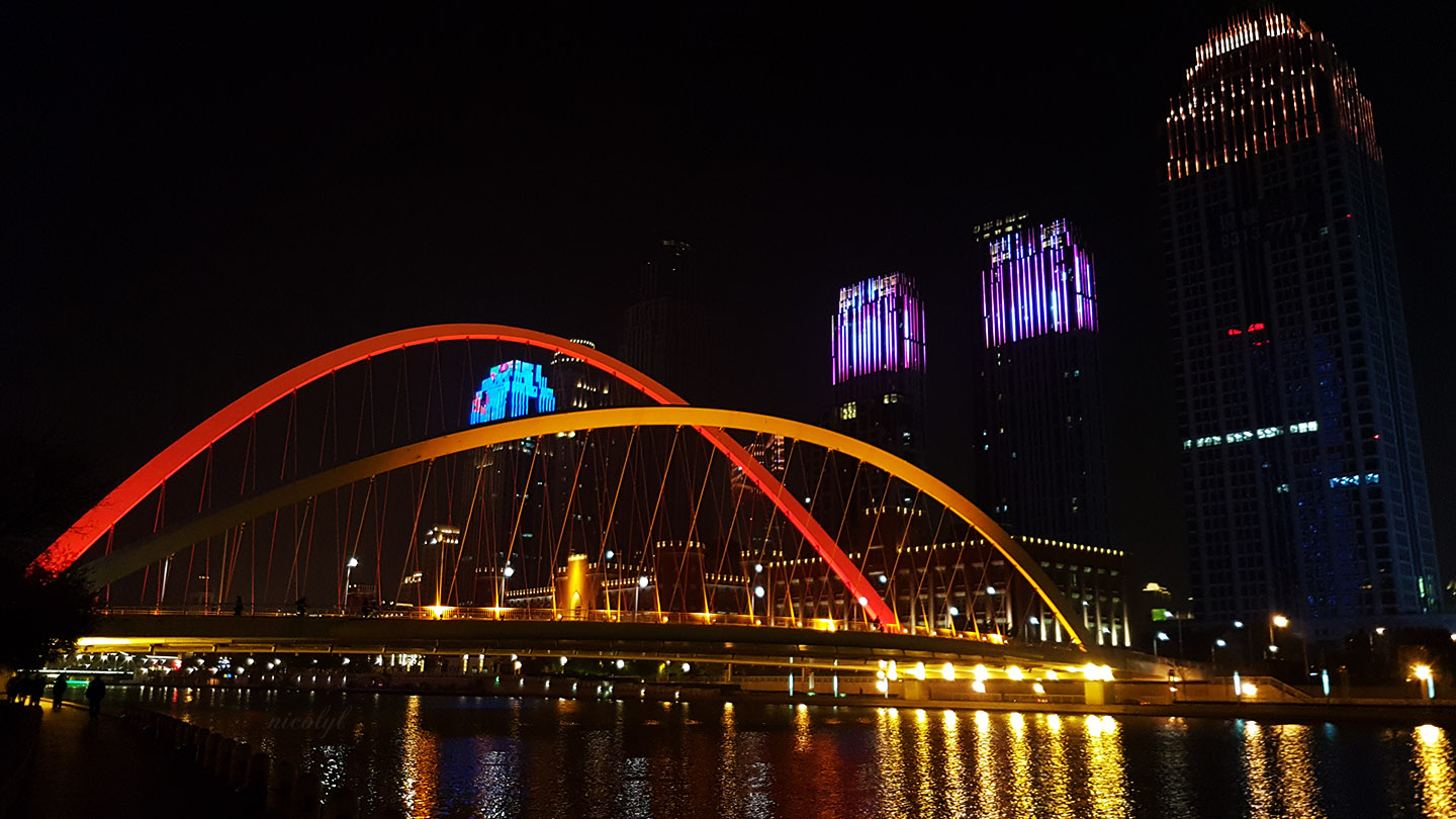 Tianjin night bridge