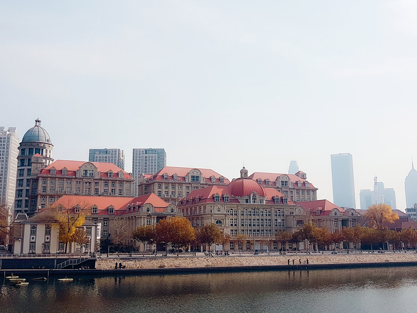 Tianjin hai river European architecture