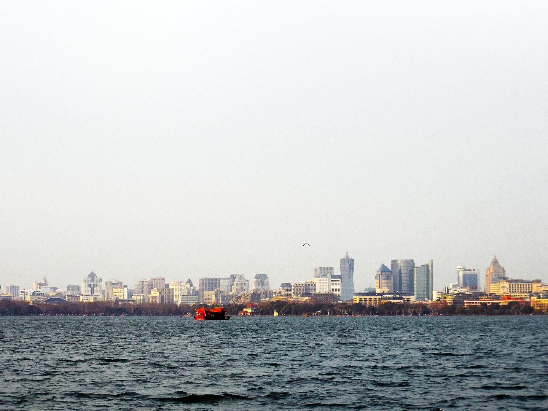hangzhou west lake cityscape