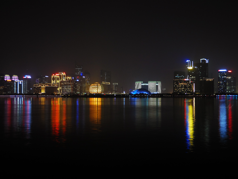 Hangzhou night cityscape