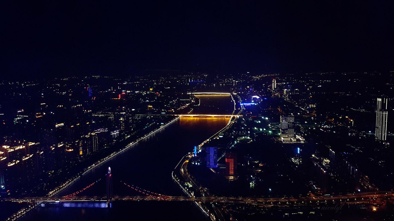 guangzhou guangdong canton tower pearl river jiang he night city view
