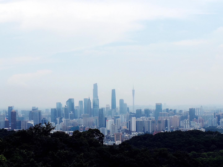 Guangzhou Guangdong baiyuan Shan white cloud mountain city view