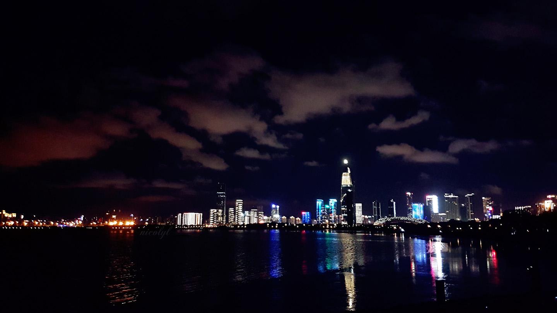 Shenzhen night city view