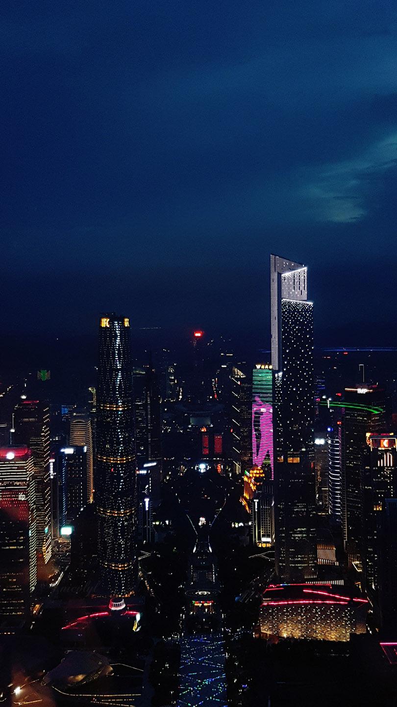 Guangzhou Guangdong canton tower night pearl river