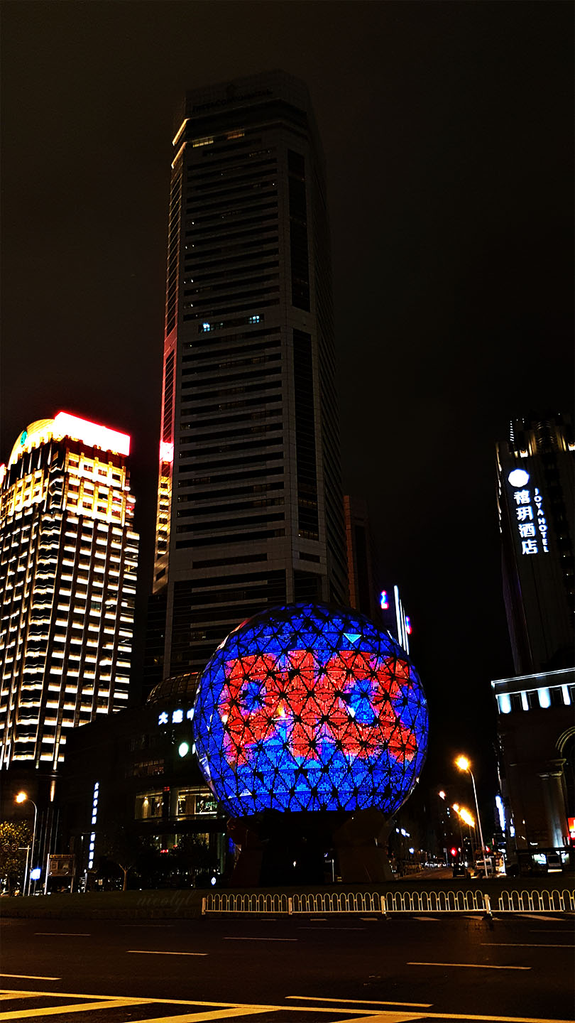 dalian liaoning friendship square night