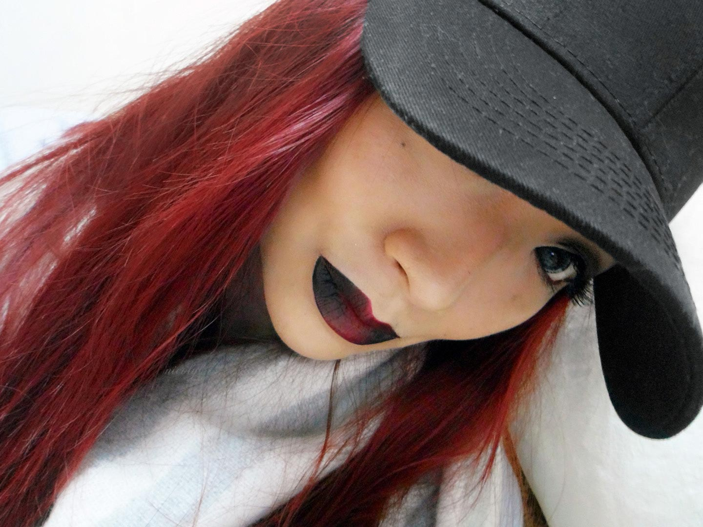 black red ombre lips halloween colourpop nicol yuk lui Wong yukluistyle nicolyl