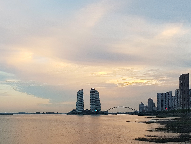 dandong china moon island sunset