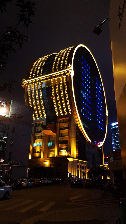 shenyang liaoning coin fang yuan building night
