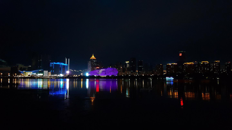 黄郁蕾 nicol yuk lui Wong yukluistyle Huang yu lei nicolyl Shenyang liaoning olympic park city cityscape night night-cap