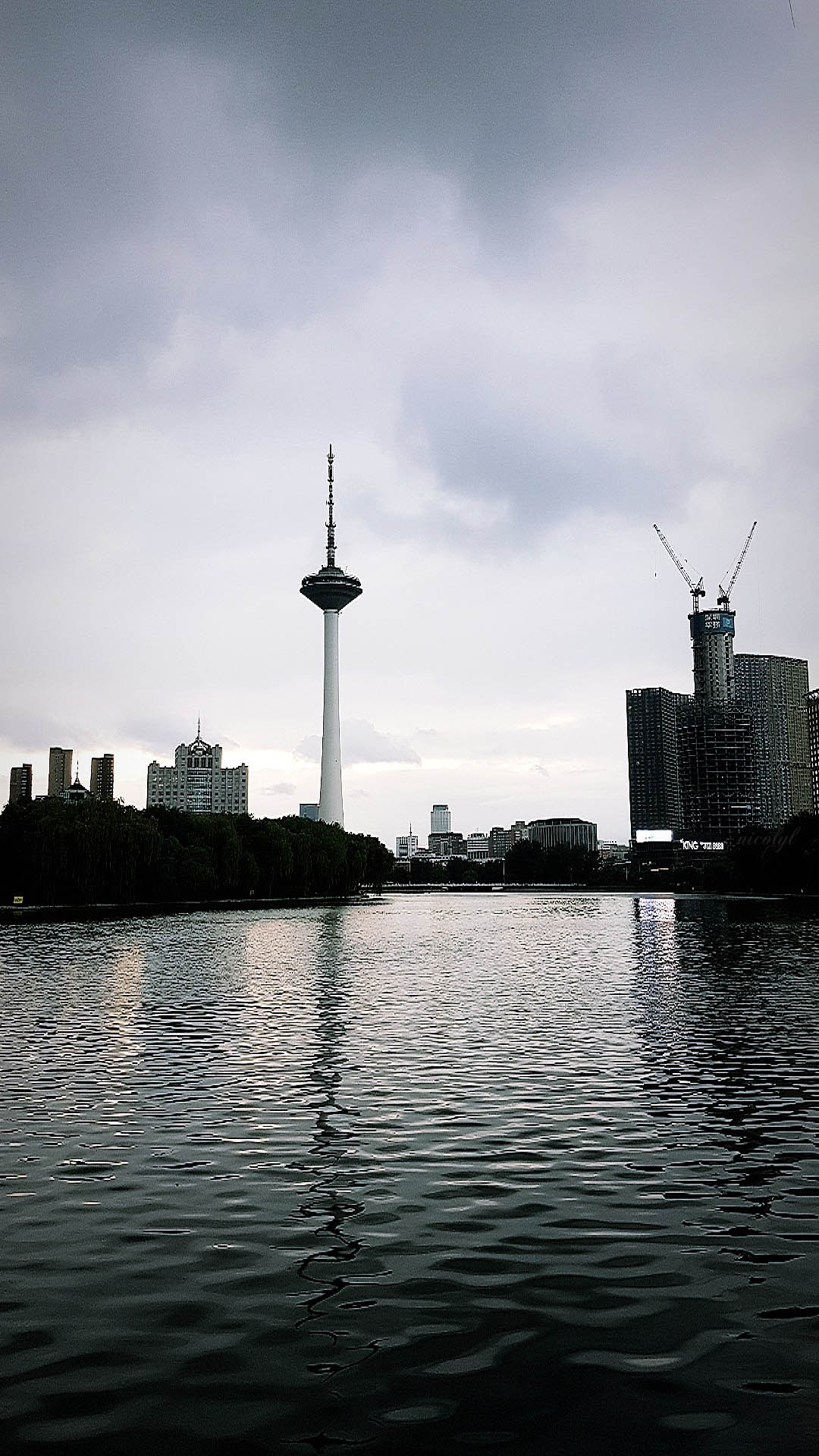 shenyang liaoning youth park sunset tv tower