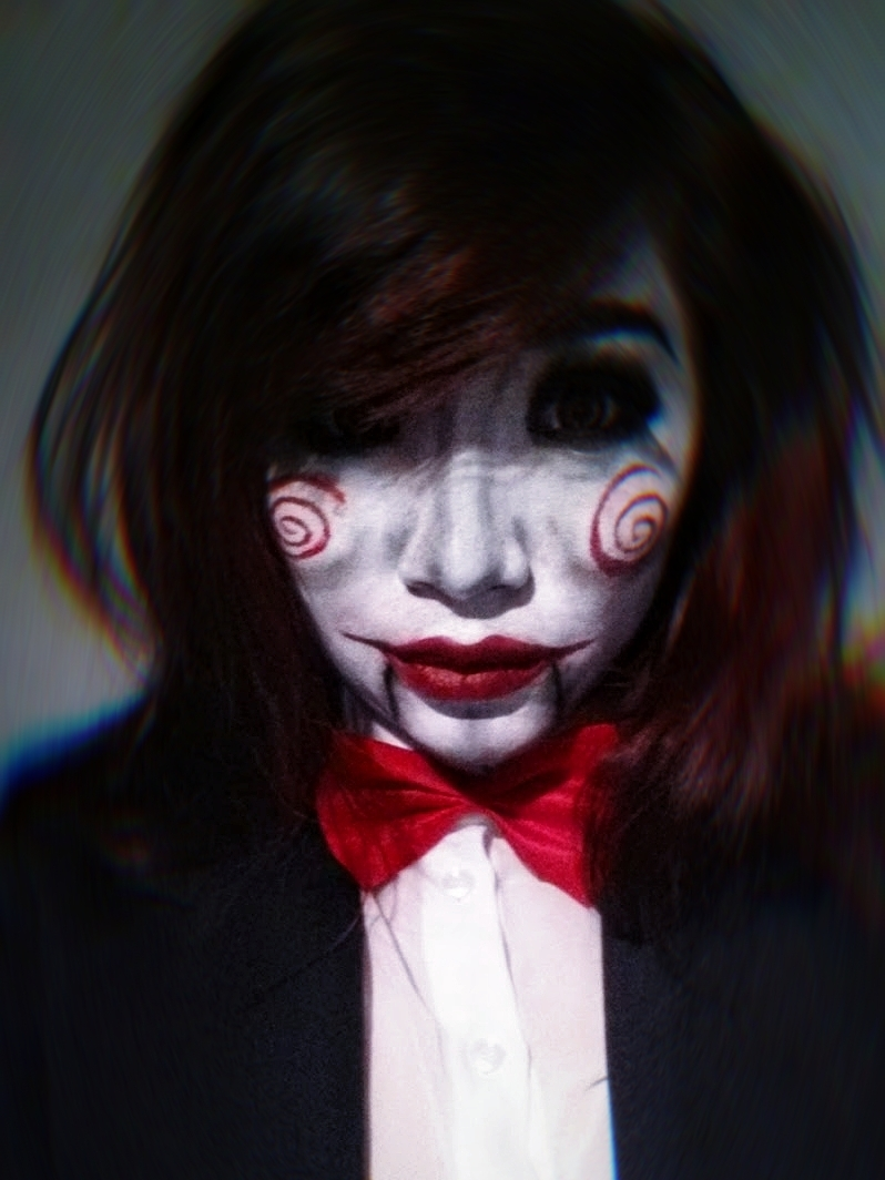 hiding mask saw billy the puppet