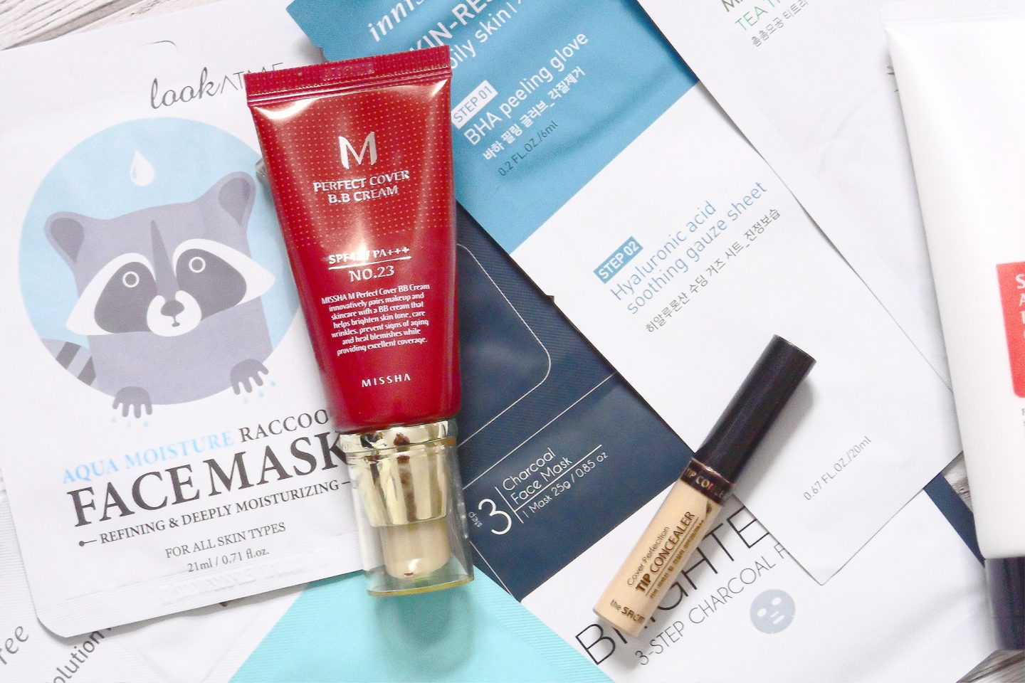 korean beauty makeup skincare  products missha m perfect cover bb cream saem cover perfection tip concealer